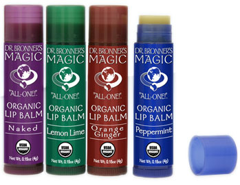 Dr. Bronners Organic Lip Balms
